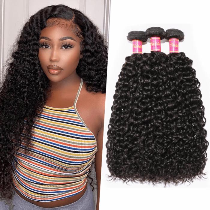 Nadula 100% Unprocessed Virgin Peruvian Curly Weave 3 Bundles Remy Human Hair Weave