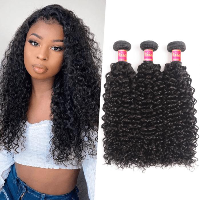 Nadula Unprocessed Virgin Indian Curly Hair Weave 3 Bundles Real Human Hair Deals