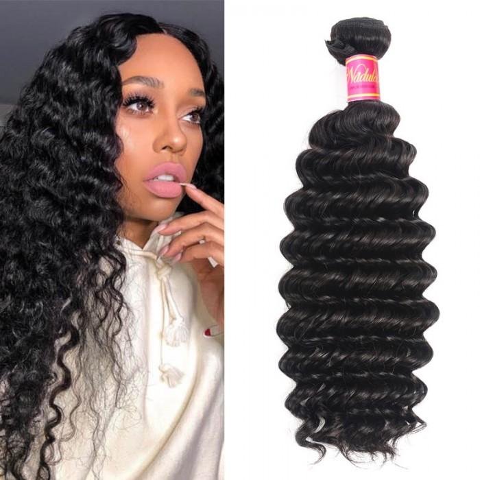 Nadula Quality Brazilian Deep Wave Hair 1 Bundle Deals Unprocessed Virgin Human Hair Weave