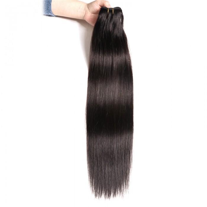 Nadula 1 Bundles #1B Natural Black Brazilian Straight Human Hair Weave Extensions 100g