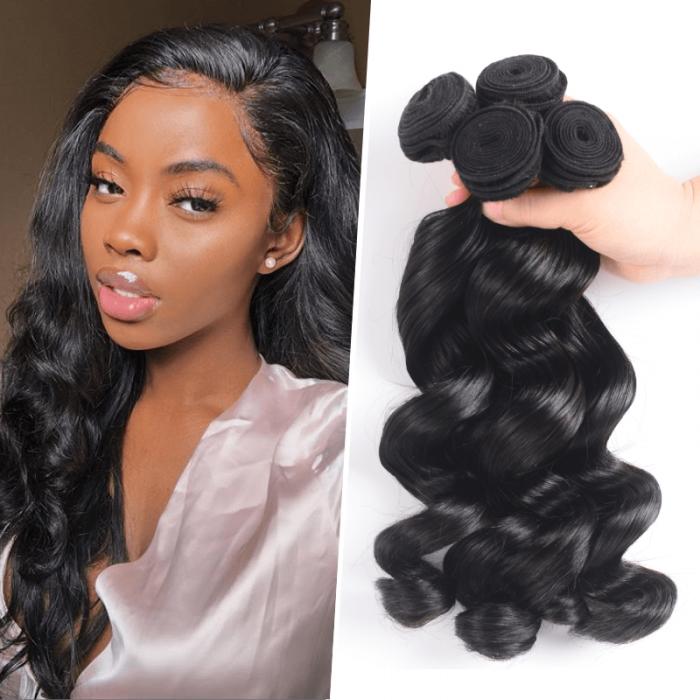 Nadula Quality Brazilian Virgin Hair Weave Loose Wave 3 Bundles Wavy Brazilian Human Hair On Sale
