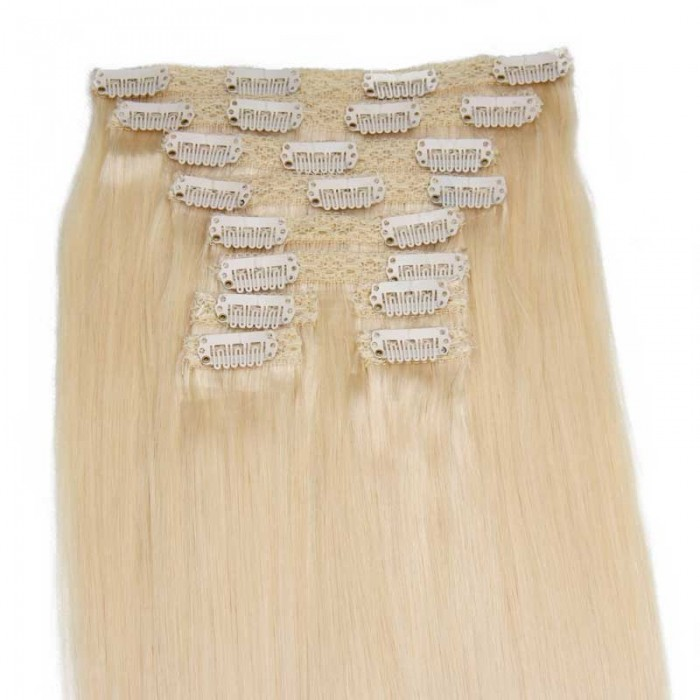 Nadula The Best Clip In Hair Extensions Real Human Hair Clip In Extensions #60