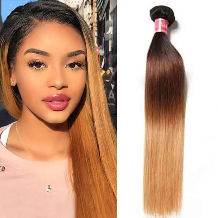 Nadula Ombre Virgin Straight Hair Extension 1 Bundle Unprocessed Virgin Remy Human Hair Weave