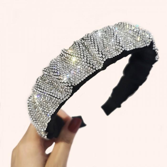1PC Full Crystal Hair Band For Women Shiny Padded Diamond Headband