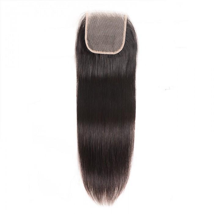 Nadula Transparent 4*4 Lace Closure Straight Free Part 100% Virgin Human Hair High Quality