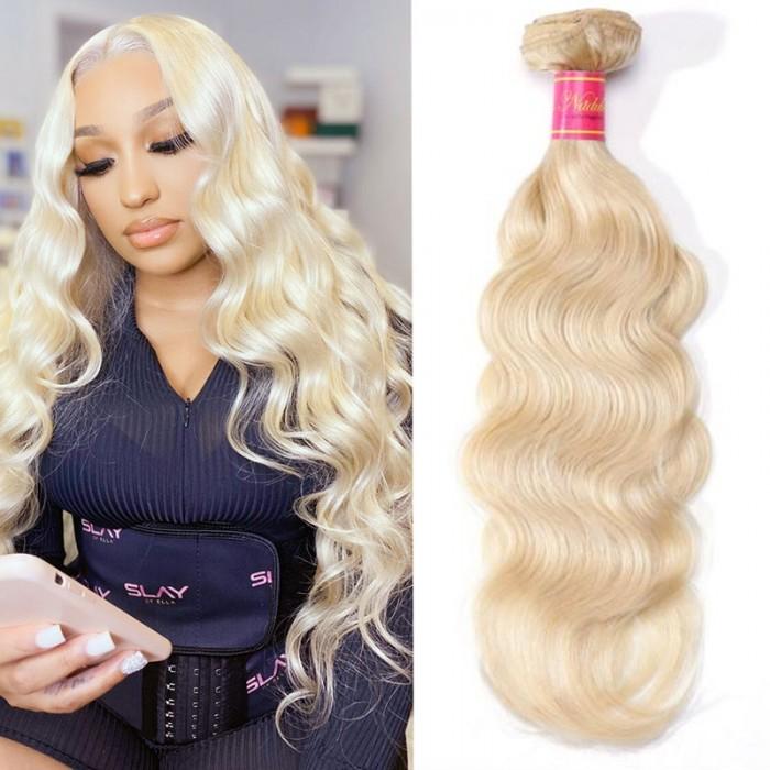 Nadula Hair 613 Blonde Virgin Human Hair Wave 1 Bundles Body Wave Hair Weft
