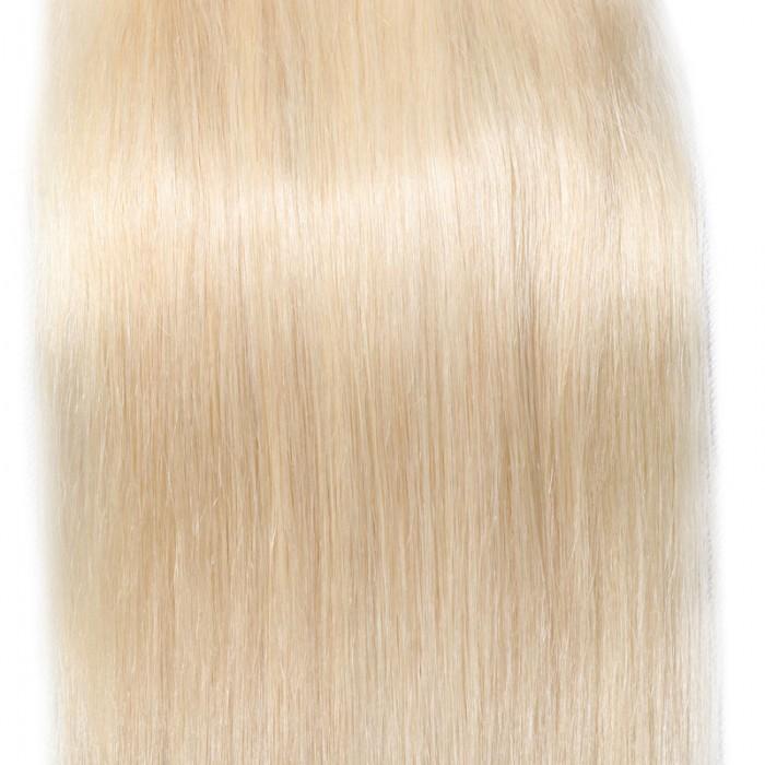 Nadula 613 Blonde 4x4 Straight Virgin Human Hair Free Part Lace Closure