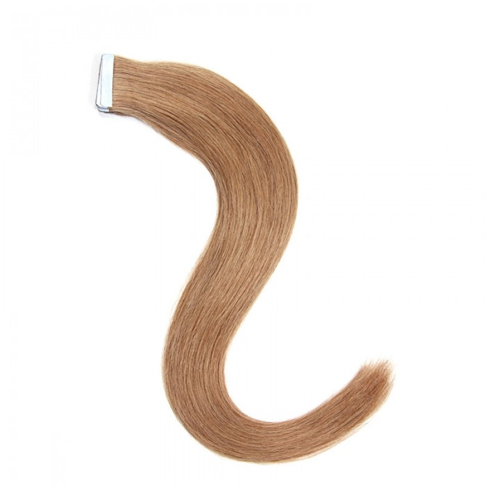 Nadula #6 Chestnut Brown Human Hair Tape In Hair Extensions 20 Pieces/Pack