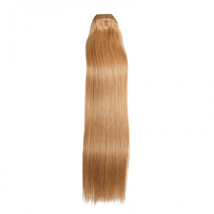 Nadula 1 Bundle #27 Honey Blonde Straight Indian Remy Human Hair Weave Extensions 100g