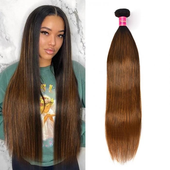 Nadula 1 Bundles #1B/30 Highlight Color Straight Human Hair Extension