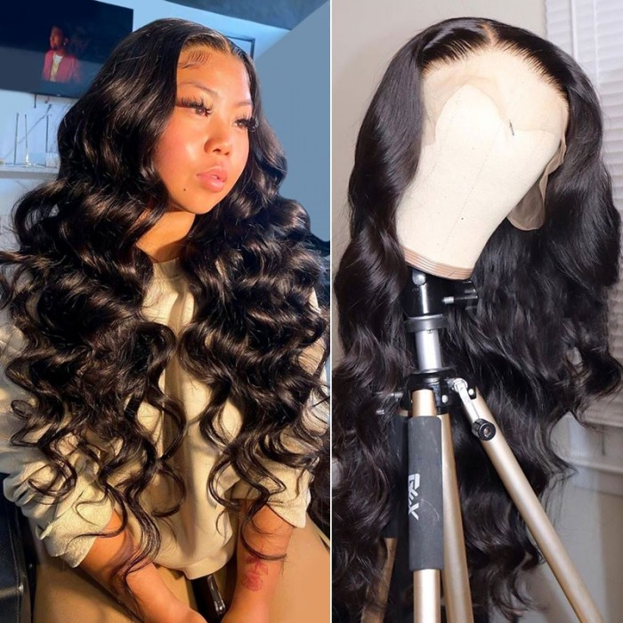 Nadula Body Wave 13x4 HD Lace Front Wigs Pre Plucked Undetectable Human Hair Wig With Baby Hair