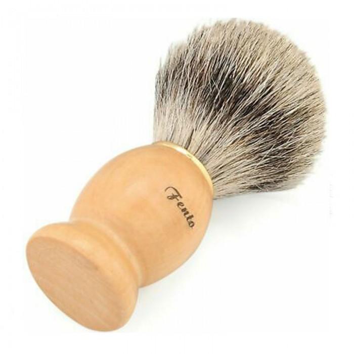 Nadula Valentine's Day Gift Wooden Brush Men's Shaving Brush With Wooden Handle