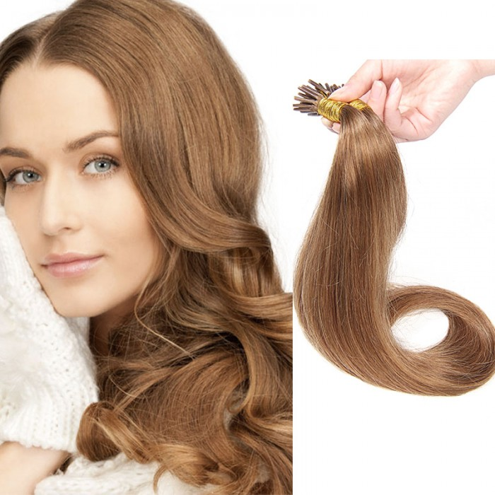 Nadula Affordable Pre Bonded I Tip Keratin Fusion Hair Extensions 100g Straight Peruvian Remy Human Hair Extensions