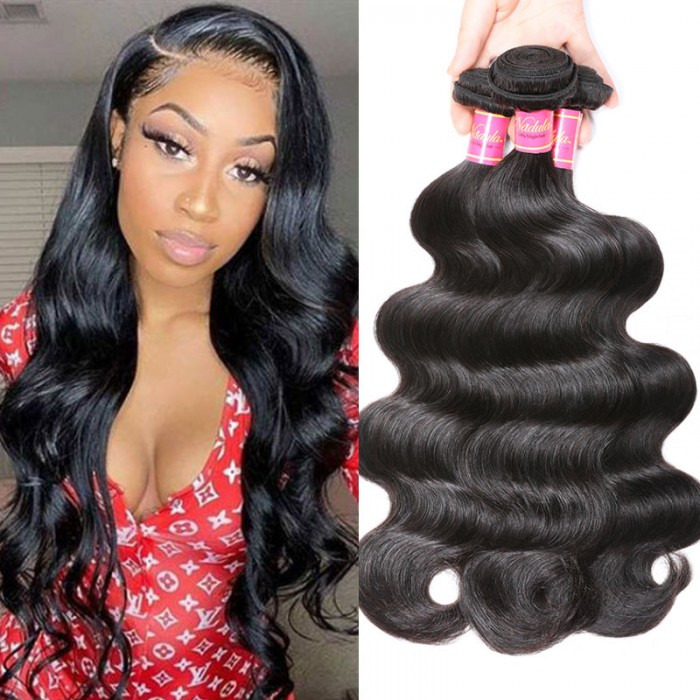 Nadula Quality Virgin Indian Hair Weave 3 Bundles Body Wave Ture Indian Body Wave Remy Human Hair