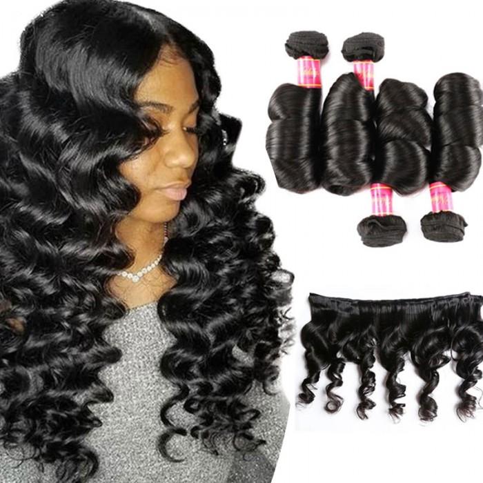 Nadula 4 Bundles Virgin Indian Loose Wave 16in-26in Quality Indian Virgin Human Hair Weaving Free Shipping