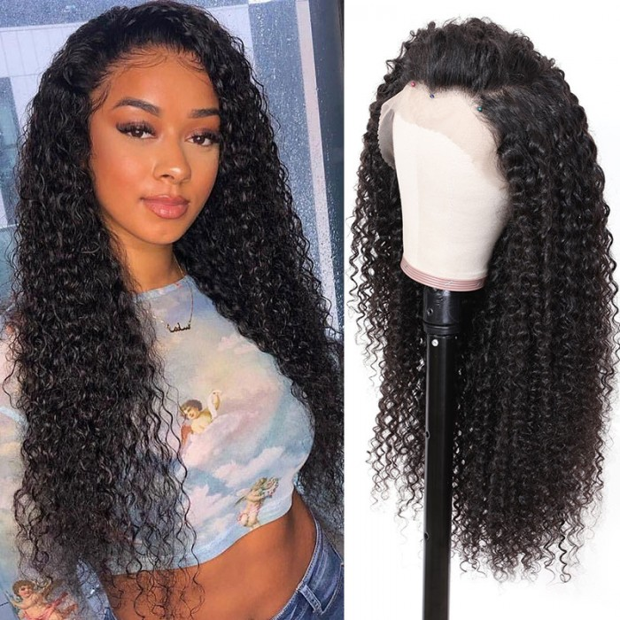 Nadula Curly Remy Hair 13×6 Lace Front 150% Density Wig Human Hair Natural Color Wigs