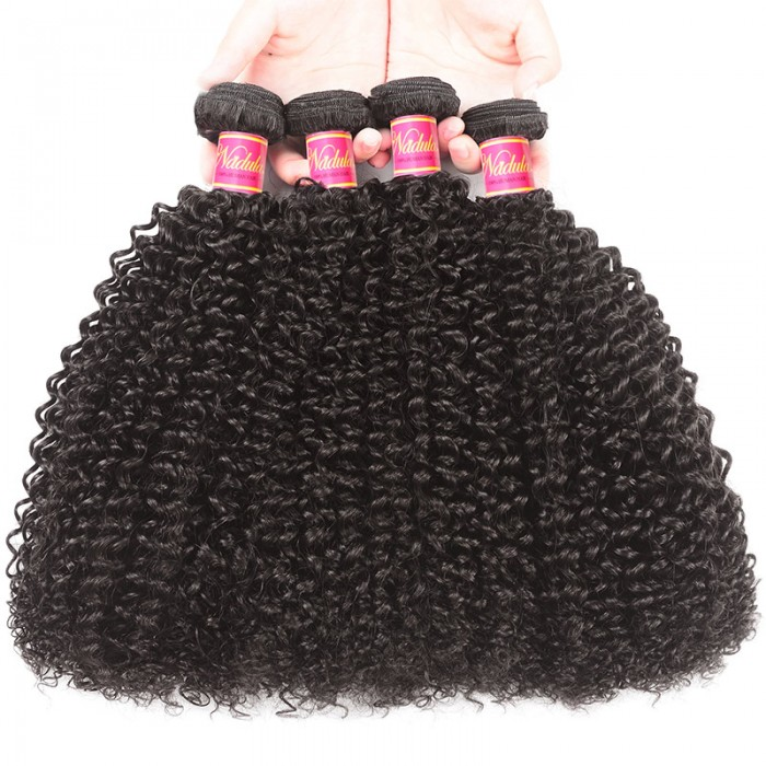 Nadula Kinky Curly Hair Weave 4 Bundles Affordable Human Virgin Hair Extensions