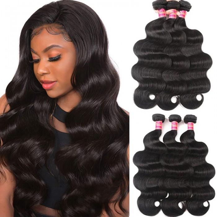 Nadula Hot Selling Virgin Brazilian Body Wave Hair 3 Bundles Deals Wavy Brazilian Virgin Hair Weave