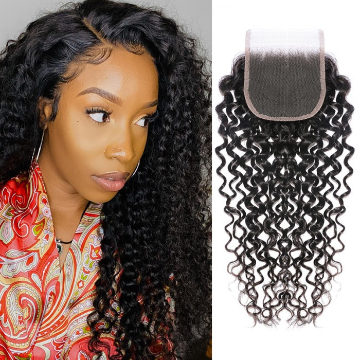 Nadula 4x4 Three Part Middle Part And Free Part Lace Closure Curly 100% Virgin Human Hair