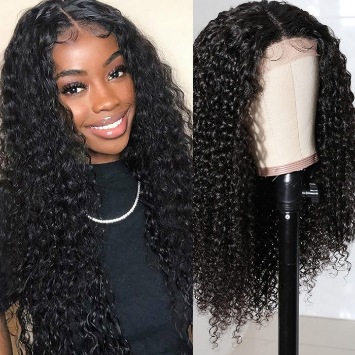 Nadula Lace Closure Wig Curly Wigs Human Hair Wigs With Baby Hair Natural Hairline Hand Tied Lace Parting Wig