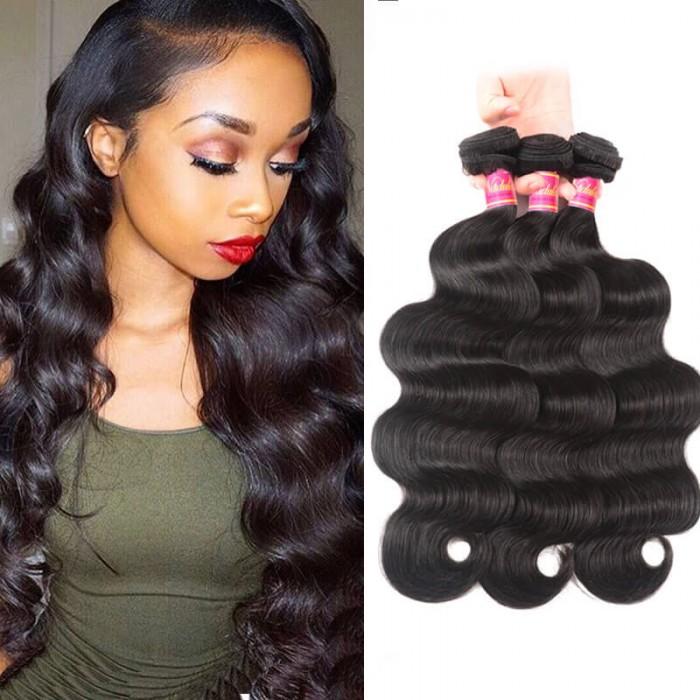Nadula Virgin Peruvian Body Wave Hair 3 Bundles Deals Good Peruvian Virgin Remy Hair Weave