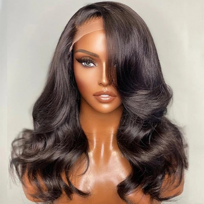 Nadula 13*6 Swiss Lace Front Body Wave Wigs 150% Density Remy Human Hair Wigs With Baby Hair On Sale