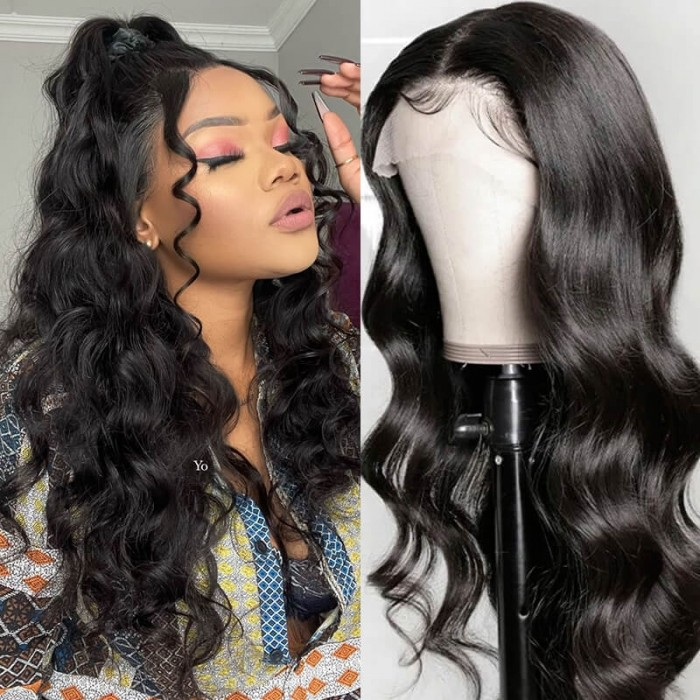 Nadula 13x4 Lace Front Human Hair Wigs Pre Plucked Body Wave Wigs 150% Density Wigs