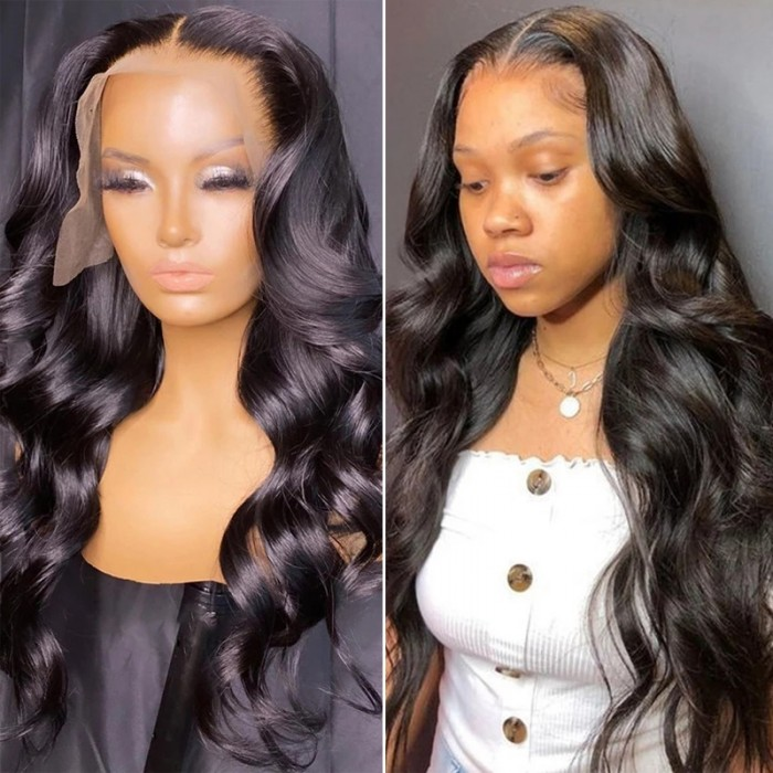 Nadula 13x4 Lace Front Human Hair Wigs With Baby Hair Body Wave 150% Density Wigs