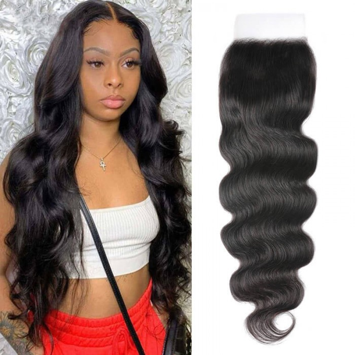 Nadula 1PC 5X5 Free Part HD Lace Closure Body Weave Virgin Hair Pre-Plucked