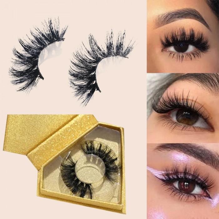 Nadula 3D Mink Eye Lashes Natural Handmade Volume Soft Reusable Eyelashes 1 Pairs