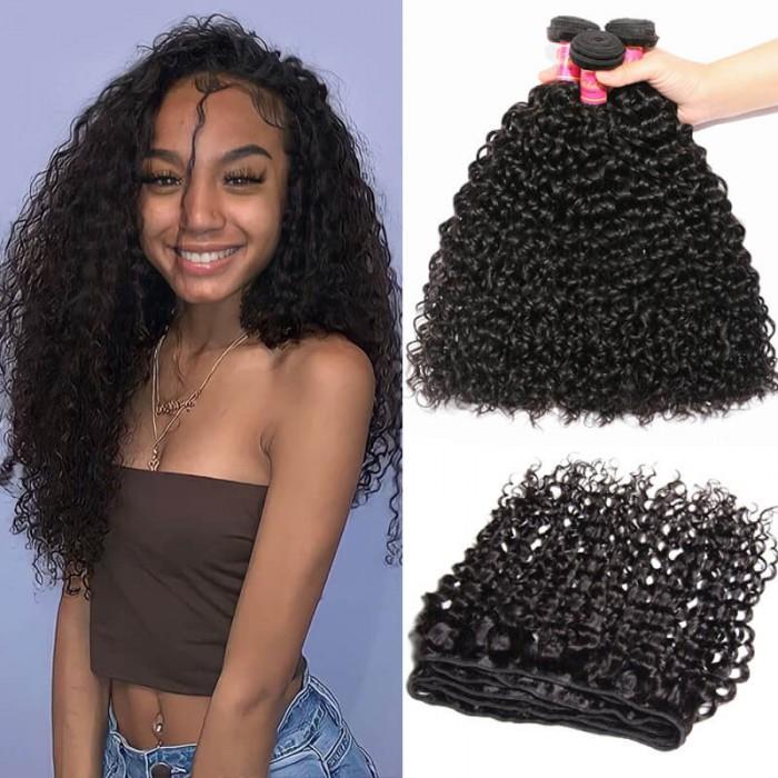 Nadula 4 Bundles Affordable Peruvian Curly Virgin Hair Weave Bundles Thick Virgin Peruvian Human Hair Extensions