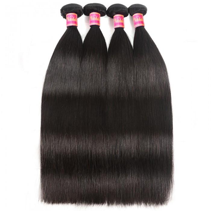 Nadula Wholesale Affordable Virgin Malaysian Straight Hair Weave 4 Bundles 7A Virgin Malaysian Human Hair