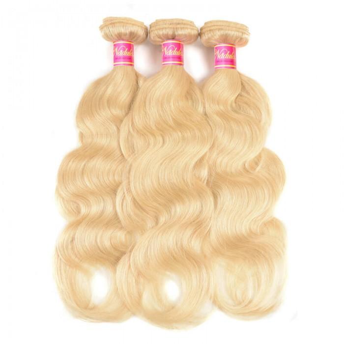 Nadula Brazilian Body Wave Blonde Hair Weaves 613 Color 3 Bundles 100% Remy Human Hair
