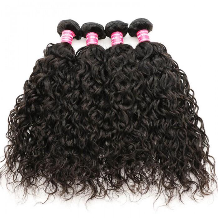 Nadula Affordable Brazilian Water Wave Virgin Hair Weave 4 Bundles 100% Unprocessed Human Hair