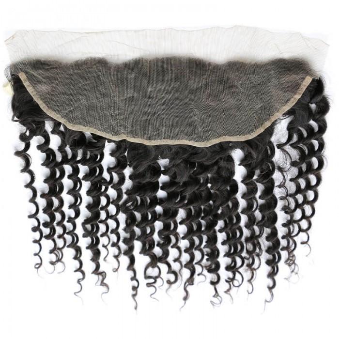 Nadula Deep Wave Virgin Hair Lace Frontal Closure 13x4 Ear To Ear