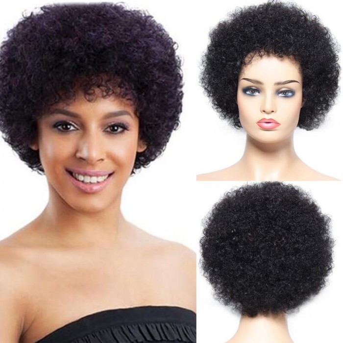 Nadula Afro Wig High Quality 100 Percent Human Hair Wigs Natural Wigs For Women