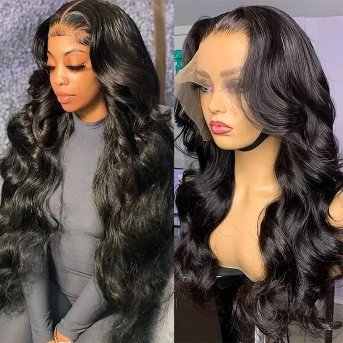 Nadula Hot Body Wave 13×6 Swiss Lace Wig Remy Human Hair Wigs 180% Density Wigs With Baby Hair