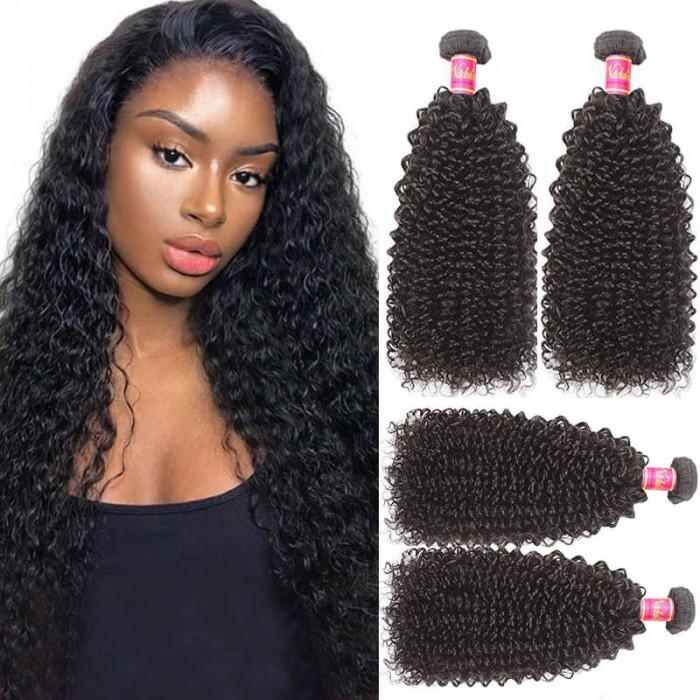 Nadula Kinky Curly Hair Weave 3 Bundles Virgin Human Hair Good Extensions