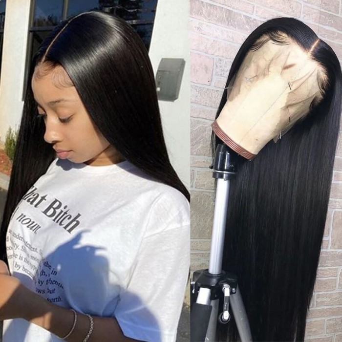 Nadula Brazilian Straight Hair Lace Front Remy Human Hair Pre Pluck Wigs High Quality 150% Density Wigs