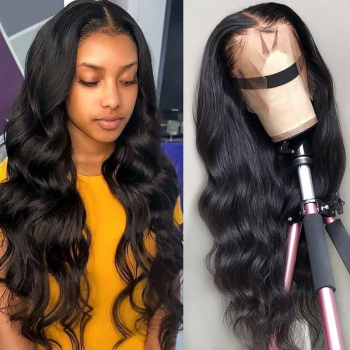 Nadula Long Body Wave Lace Front Human Hair Wigs With Baby Hair 180% Density Wigs
