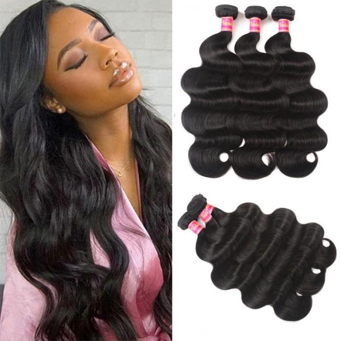 Nadula Quality Virgin Malaysian Hair Bundles 3pcs Natural Black Malaysian Virgin Hair Body Wave Human Hair Weave
