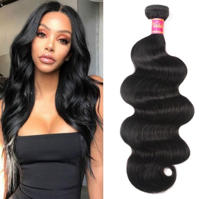 Nadula Real Virgin Remy Hair Weave Body Wave 1 Bundle Affordable Brazilian Human Hair Lucky Drawn