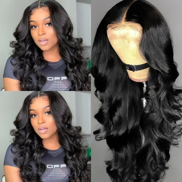 Nadula T Part Lace Wig Human Hair Wigs Body Wave With Baby Hair Hand Tied Lace Wigs Pre-Plucked Natural Hairline