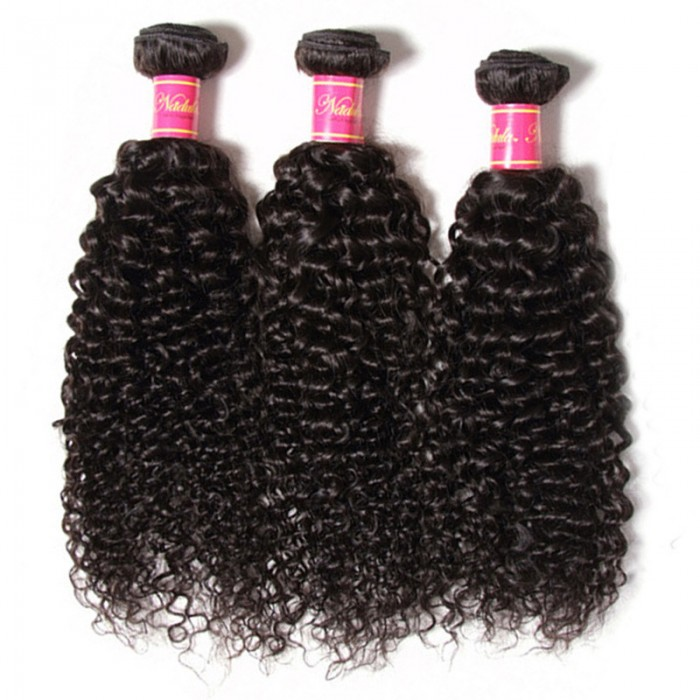 Nadula Wholesale Quality Malaysian Curly Hair 3 Bundles Thick Virgin Malaysian Human Hair Weave