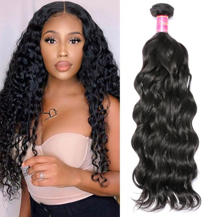 Nadula Real Virgin Brazilian Hair Weave Natural Wave 1 Bundle Affordable Brazilian Human Hair