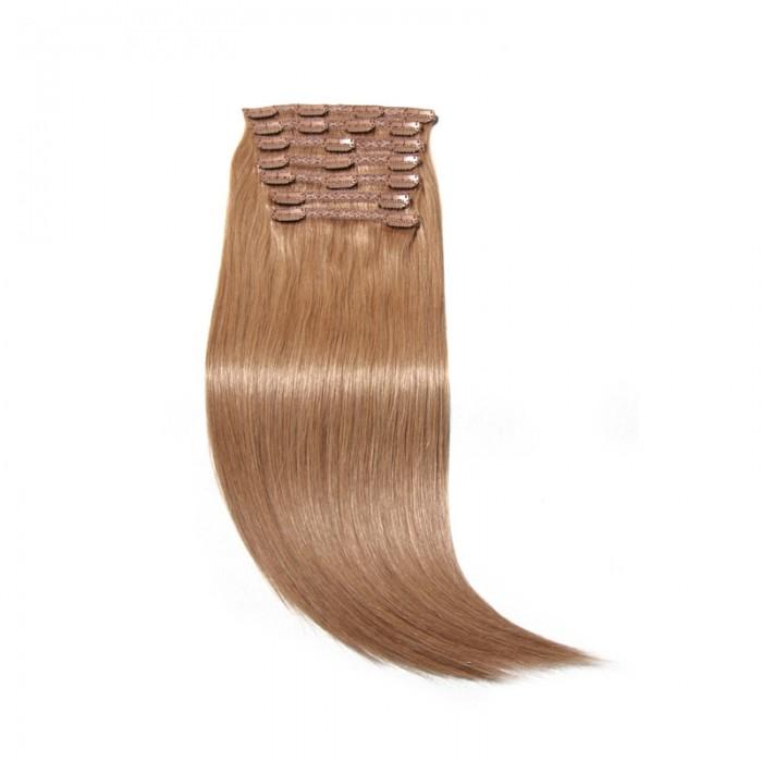 Nadula #27 Platium Blonde Straight Clip In Virgin Human Hair Extensions Wholesale Affordable Price