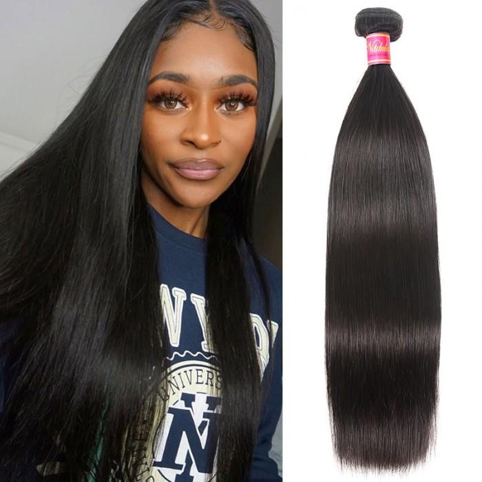 Nadula Virgin Brazilian Straight Hair 1 Bundle Unprocessed Brazilian Virgin Remy Human Hair Weave