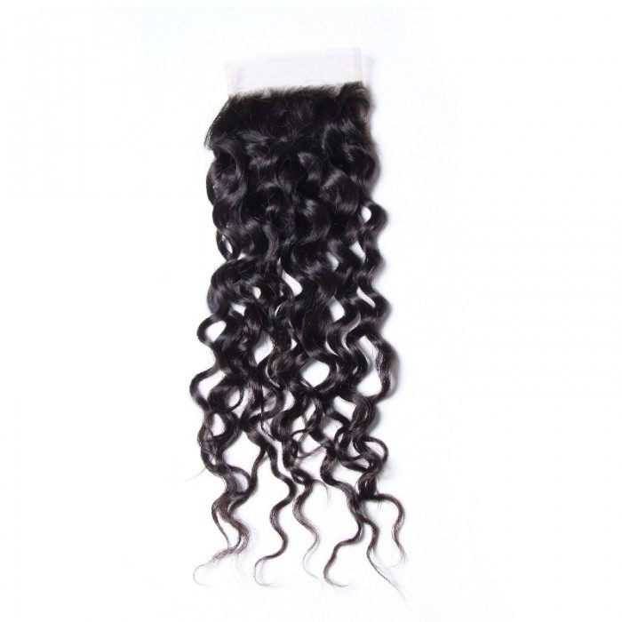 Nadula Water Wave 4*4 Lace Closure Pre Pluck Free Part 100% Virgin Human Hair High Quality