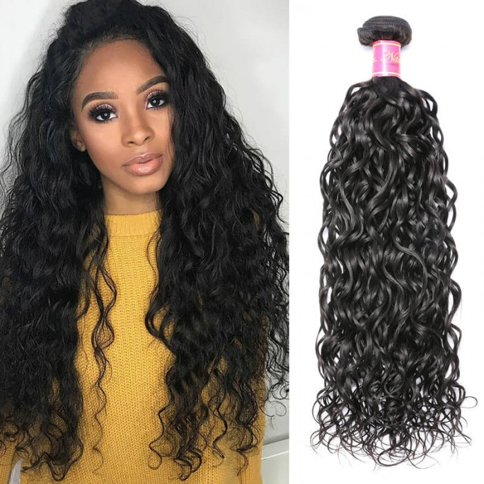 Nadula Virgin Hair Brazilian Water Wave Hair Weave 1 Bundle Free Shipping