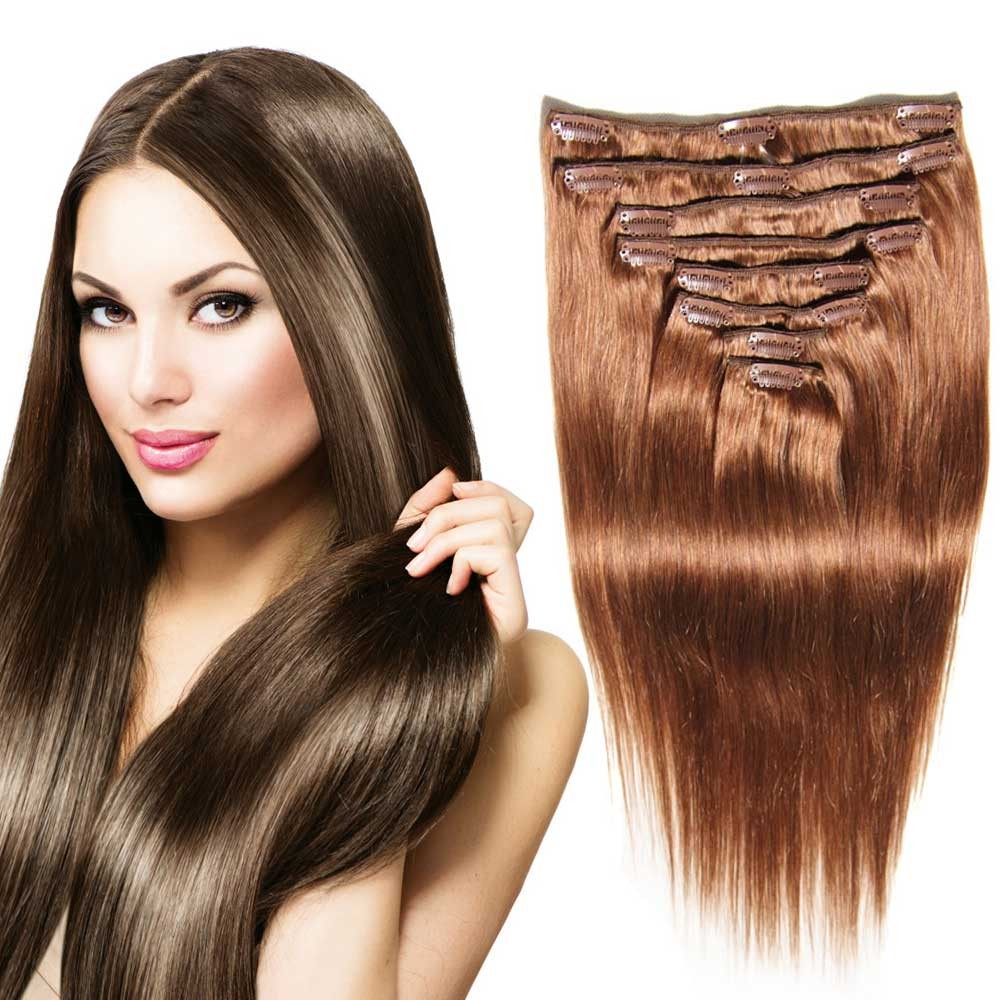 Real human hair extensions for short hair cheap clip on natural nadula natural clip in hair extensions buy virgin brazilian natural straight hair pmusecretfo Choice Image
